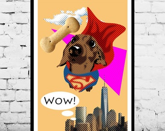 Pet memorials. Custom Pet Portrait. Digital drawing. [ Your pet, your friend, your SuperHero! ]