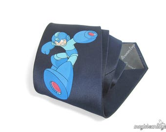 Hand-Painted Megaman Video Game Necktie