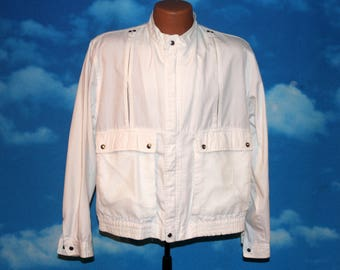 Fox New Wave Mesh White Jacket Medium Vintage 1980s