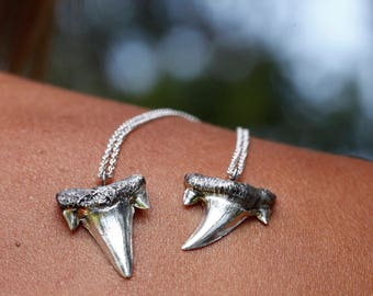 Silver Shark tooth, tribal sterling pendant, shark tooth necklace, shark tooth jewelry, Made to order