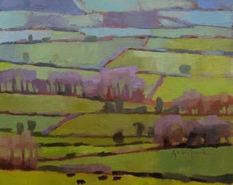 English Tapestry, landscape oil painting, direct from artist
