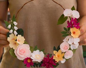 Crepe paper flower garland