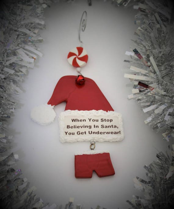 Believe in Santa Christmas Ornament - Believe - Ornament Exchange - Tree Ornament - Funny Ornament - Keepsake Ornament - Holiday Decoration
