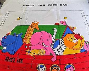 Vintage Cotton Noah's Ark Tote Bag DIY