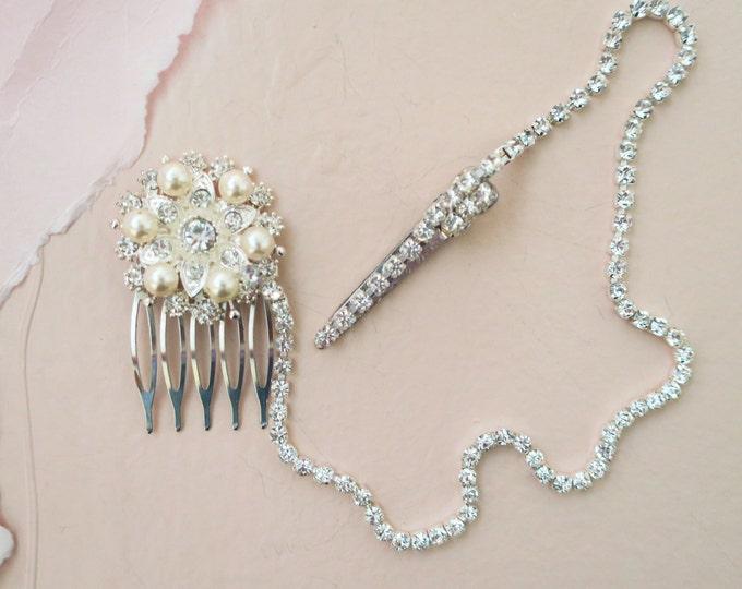 Bridal Head Chain Art Deco Wedding Hair Accessory