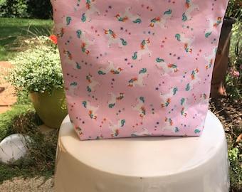 Rainbow unicorn small wedge bag