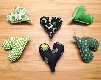 St. Patrick's Day Hearts Ornaments  Green Bowl Fillers Spring Decorations