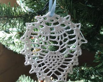 Crocheted Lace Christmas Tree Ornament