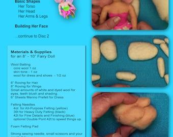 FAIRY Dolls Needle Felting Video Workshop (5 DVD Set)