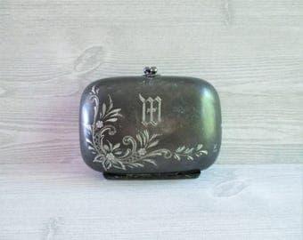 Vintage Victorian Etched Travel Soap Box