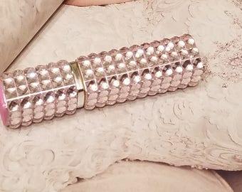 Rhinestone Perfume Atomizer/Barely Pink/Travel Sized