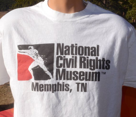 vintage 90s tee national CIVIL RIGHTS museum memphis tennessee t-shirt Large Medium racism