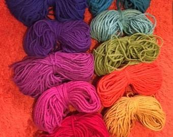 Hand Felted wool yarn cord