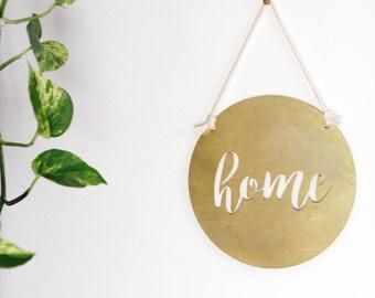 Home Circle Metal Wall Art | Home Wall Art | Home Metal Sign | Home Wall Hanging | Metal Wall Art | Home Sign | Farmhouse Decor