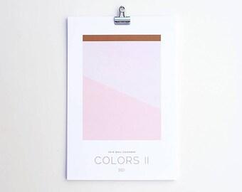 Wall Calendar 2018 - Colors II