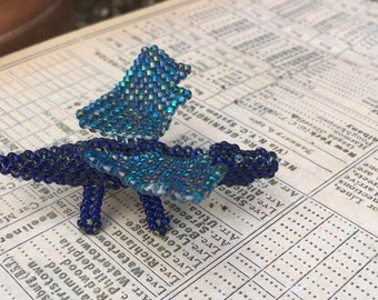 Blue Beaded Dragon