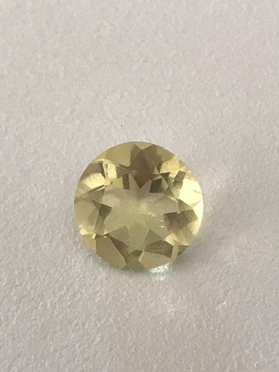 5 Ct Round Cut Yellow Lemon Quartz (12mm)