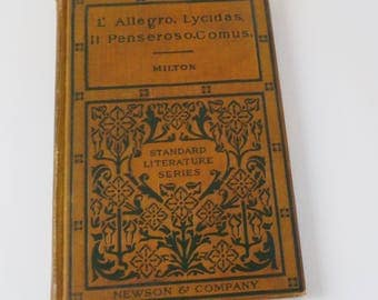 Vintage Milton Collection • Standard Literature Series • L'Allegro Lycidas Il Penseroso Comus