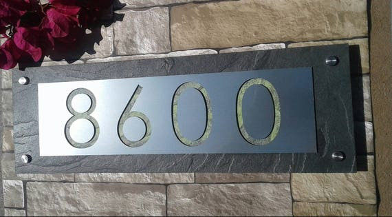 modern address plaque mid century house numbers