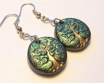 Yggdrasil Tree of Life Handmade Polymer Clay Earrings