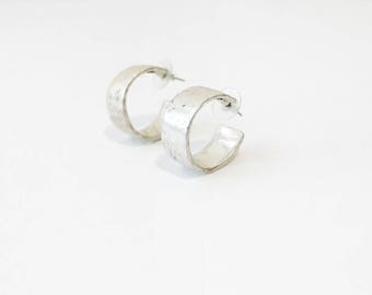 Vintage Rustic Chunky Hoop Cuff Earrings