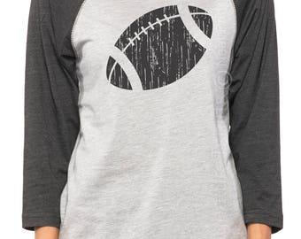 Football Mom Shirt. Football Mom Tee. Football Shirt. Football Raglan Shirt. Football Girlfriend Tshirt. Football tee. Christmas Gift Idea
