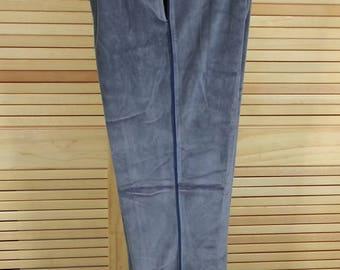 Vintage Christian Dior Monsieur velour jogging pants grey size L large cinch tie waist 44