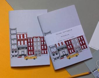 New York Notebook  - A5 Recycled Eco Notebook - New York Skyline - New York Cityscape