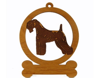 Kerry Blue Terrier Ornament 083445 Personalized With Your Dog's Name