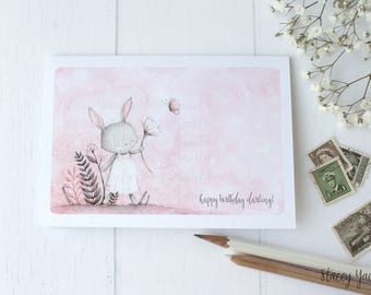 """greeting card - card -butterfly - flowers - friends - bunny - birthday - thank you - thinking of you - """"Kindness Matters!"""""""