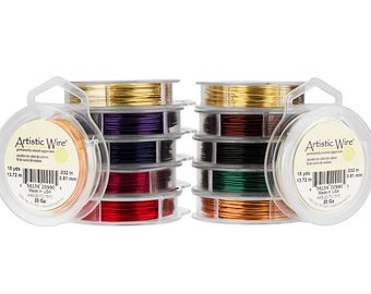 24 Gauge Artistic Wire Beading Wire 15 Yards 24 Gauge Bead Wire Jewelry Wire Craft Wire - You choose the color