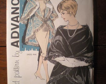 Vintage 1960s 60s Advance Sew Easy Cape Pattern 9717 Small FF