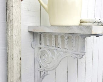 Large Cast Iron Brackets, Victorian Decor, Rustic Barnyard, French and Garden Decor, Farmhouse Style, Open Shelf Cabinets