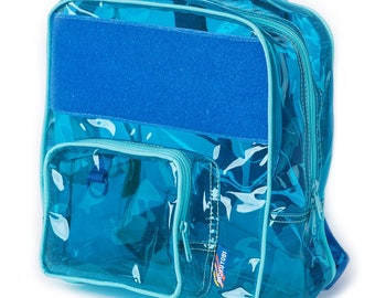 Dolphin Blue Vinyl Backpack