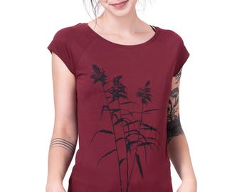 "Woman fairtrade-shirt ""reed"" organic ruby"
