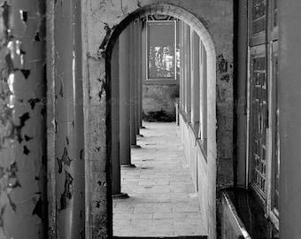 Black & White Door Print, Asian Art Print,Chinese Photography Black White,Fine Art Photography Asian Decor,Door Photography,Doorway Wall Art