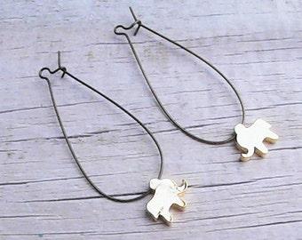 tiny golden elephant earrings