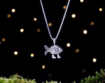 Sterling Silver Darwin Fish - (Pendant, or Necklace)