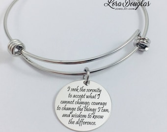 Serenity prayer pendant stainless steel heart necklace serenity prayer jewelry serenity prayer necklace serenity prayer bracelet serenity prayer sterling mozeypictures Images