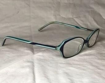 Nicole Miller Georgette - Black Emerald Cat Eye Plastic Glasses Frames - PRESCRIPTION lenses