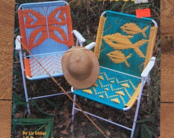 vintage 1992 macrame patterns Macrame Chairs for the seasons