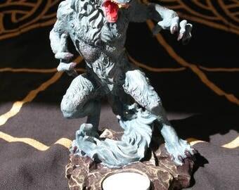 Werewolf Candle Holder Statue~Pagan home decor~Halloween~Samhain~Lycanthropy