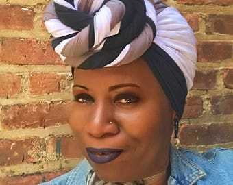Timeless Knotty Girl Headwrap -  Headdress - Turban- Dread Locs- Hippi- Boho