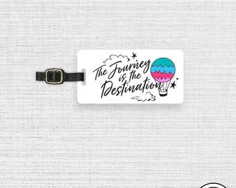 Luggage Tag The Journey Is the Destination Hot Air Balloon Luggage Tag - Single Tag
