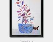Cat Decore. Different Intentions - Cat Art, Cat Artwork, Cat Illustration, Cat Lover, Cat Gift, Cat Prints, Black Cat, Pet Cat, Cat Toy, Cat