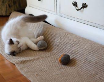 Felt Balls Cat Toys x 6 - catnip scented