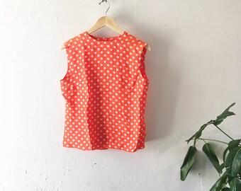 60's Handmade Polka Dots Top