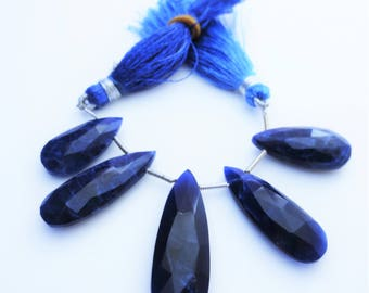 Sodalite Gemstone Briolettes Matched Pairs Qty 5