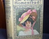The Leighton Homestead, Mary J. Holmes, Collectible Antique Book Fiction, 1900's Romance Novel, Vintage Novel, A.L. Burt