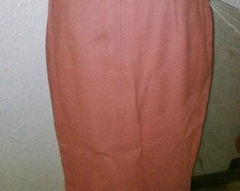 Pink Perfection 50's Pinup Va Va Voom Wool Pencil Skirt  - S/M